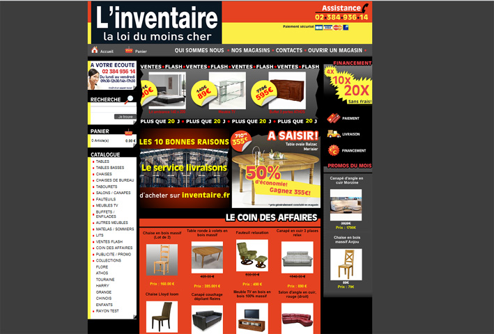 l inventaire lance son site marchand les franchises du meuble. Black Bedroom Furniture Sets. Home Design Ideas